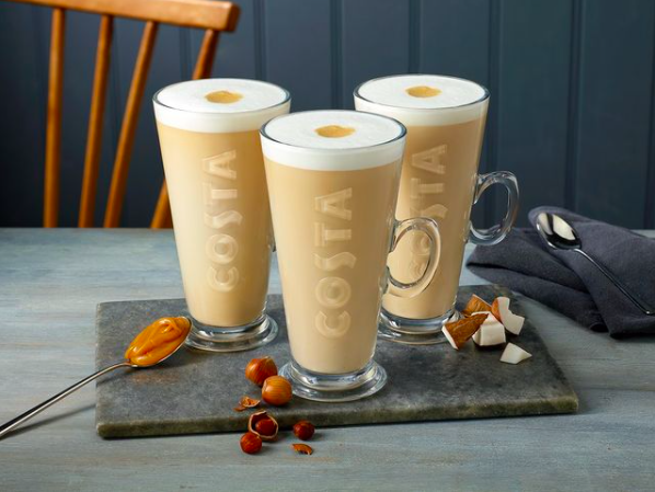 costa coffee veganuary at the springs